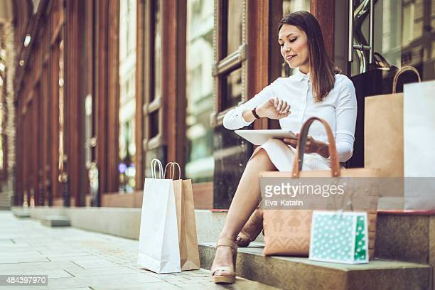 Resting after shopping
