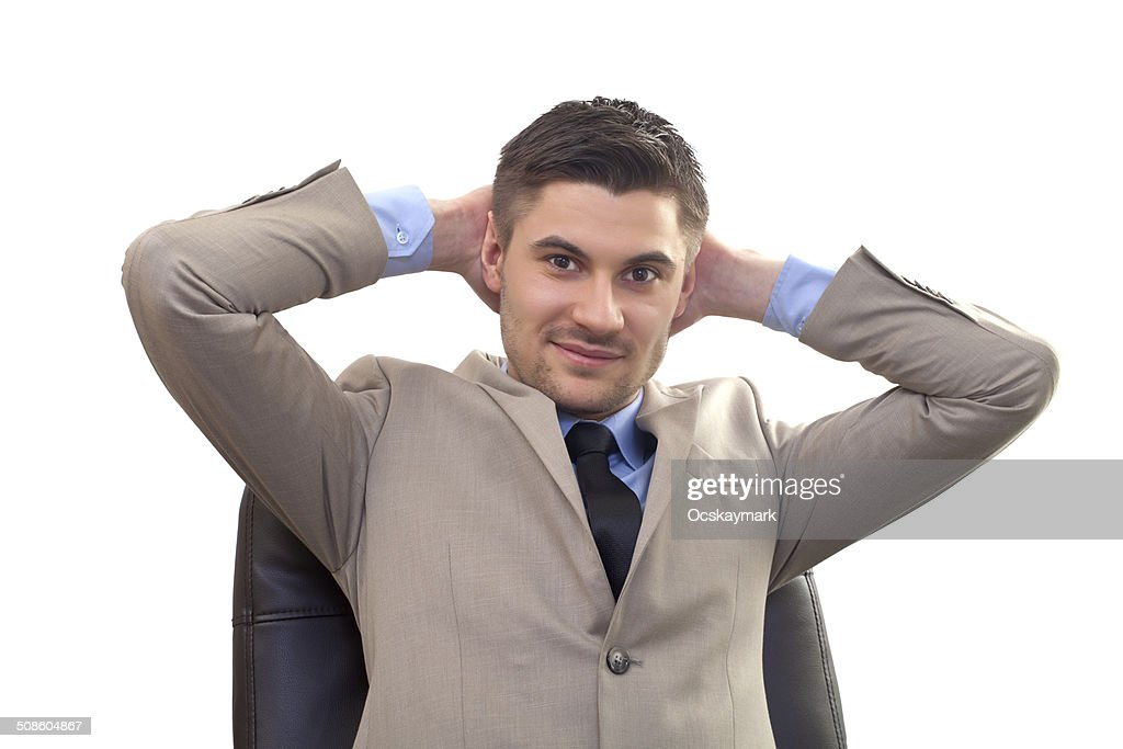 Resting in office : Stock Photo
