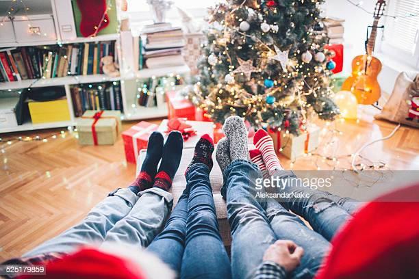 Se reposer ensemble pour Noël le matin