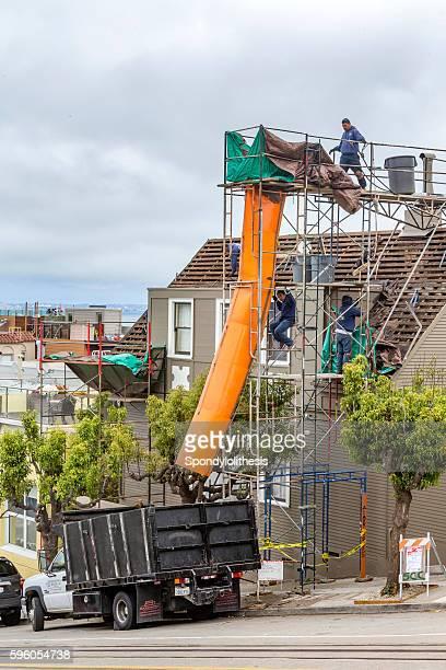 Restoration of an old building at San Francisco