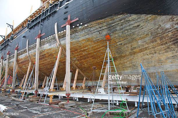 Restoration of wooden-whaleship Charles W. Morgan, 1841, Mystic Seaport, Mystic, Connecticut