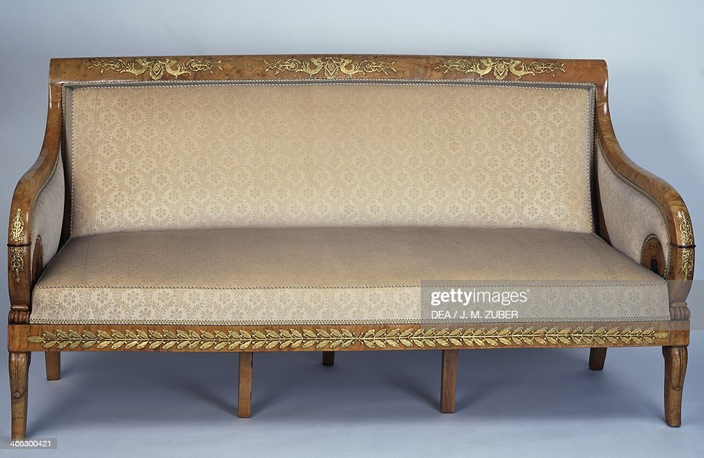 Restoration style three-person canape Pictures | Getty Images