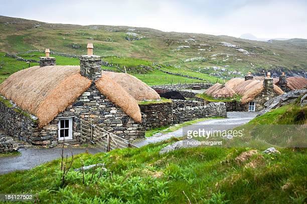 Restored blackhouse village, Outer Hebrides, Scotland
