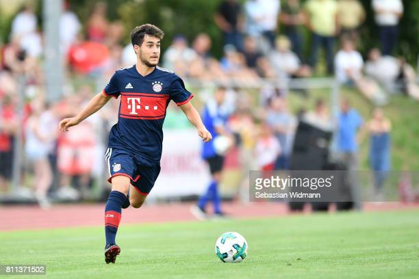 Resul Tuerkkalesi of FC Bayern Muenchen plays the ball during the preseason friendly match between FSV ErlangenBruck and Bayern Muenchen at Adi...