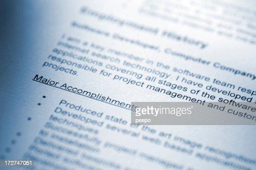 resume macro series