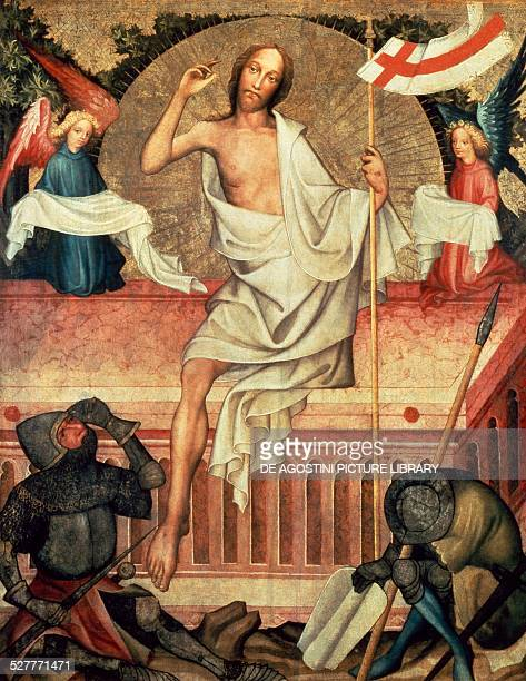 Resurrection panel from Calvary altar from Garamszentbenedek by Tomas Kolozsvar Hungary 15th century Esztergom Kereszteny Muzeum