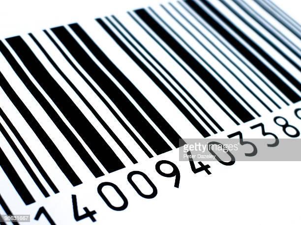 Retail barcode close up