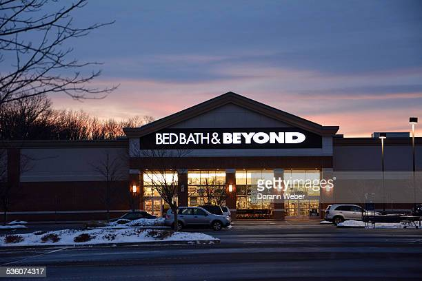 Retail Bed Bath Beyond sign logo and storefront Hamilton New Jersey