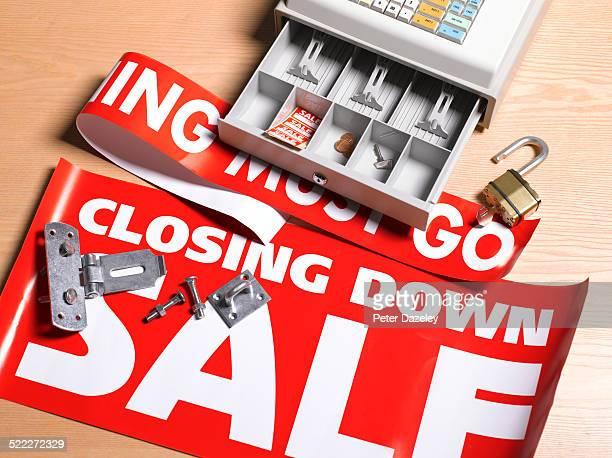 Retail closing down sale
