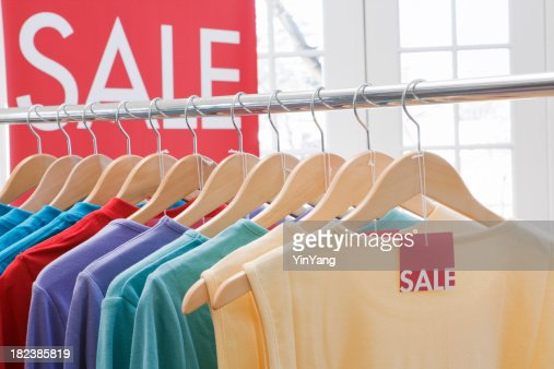 Retail Sale- Shopping for Clothes in Fashion Store