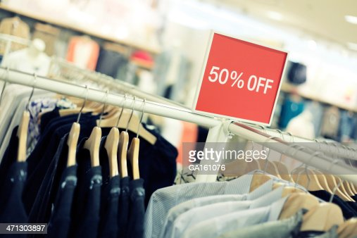 Retail Shopping Sale - Clothing in Fashion Store