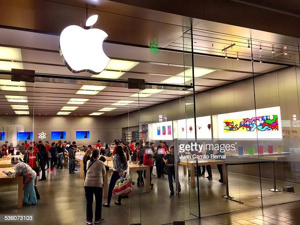 Retail signs Apple store in Cerritos California on January 30 2015