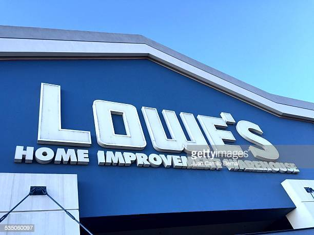 Retail signs Lowe's Home Improvement Warehouse store in Carson California on January 27 2015