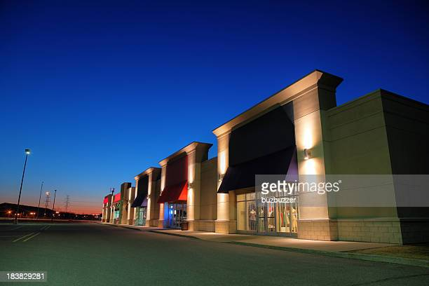 Retail Store Building Exteriors at Night