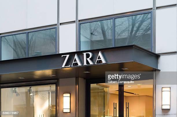 ZARA retail store sign in Philadelphia PA