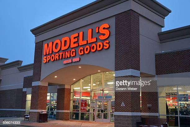 Retail storefront and logo sign Modell's Sporting Goods Hamilton New Jersey