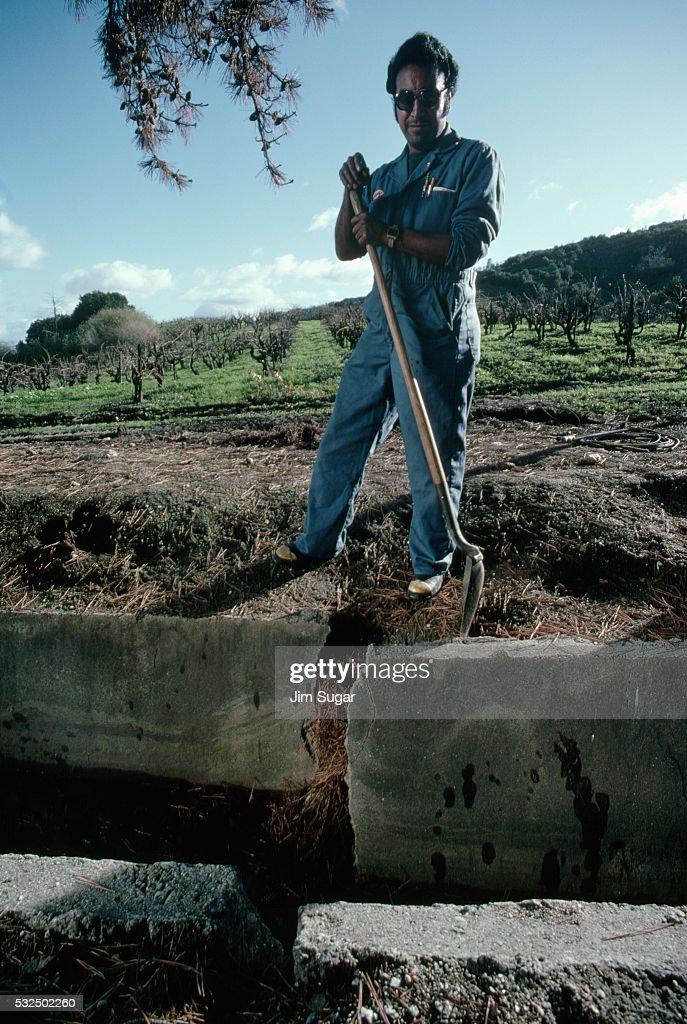 Retaining Wall Broken by Seismic Activity
