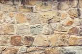 retaining wall made of stone, background