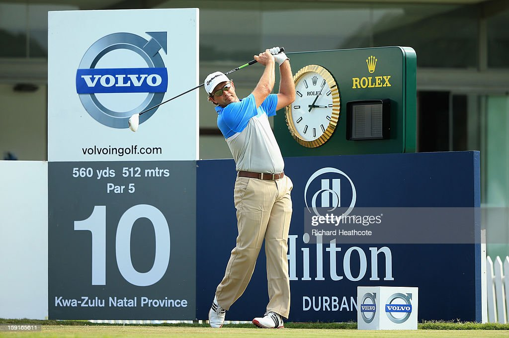 Retief Goosen of South Africa in action during the Pro-Am for the Volvo Champions at Durban Country Club on January 9, 2013 in Durban, South Africa.