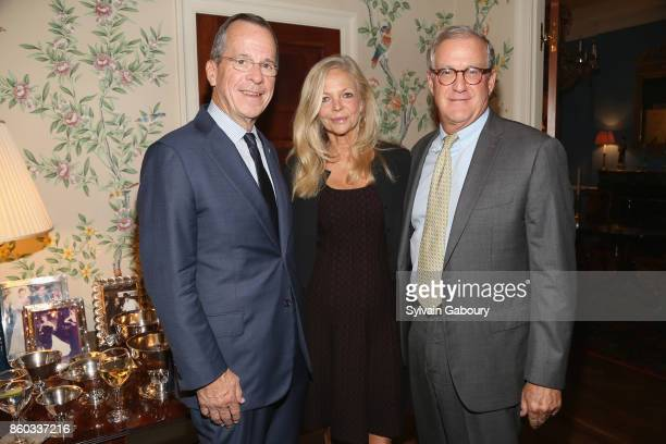 Retired Admiral Mike Mullen Ingrid Edelman and Tom Edelman attend The Common Good proudly presents an intimate conversation with Admiral Mike Mullen...