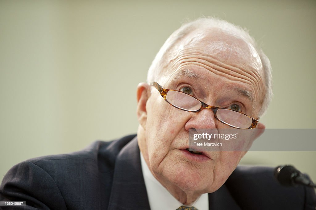 Retired Air Force Lt. Gen. <a gi-track='captionPersonalityLinkClicked' href=/galleries/search?phrase=Brent+Scowcroft&family=editorial&specificpeople=202236 ng-click='$event.stopPropagation()'>Brent Scowcroft</a>, co-chairman of the Blue Ribbon Commission on America's Nuclear Future, testifies before the House Energy and Commerce Committee on Capitol Hill February 1, 2012 in Washington, DC. The subcommittee heard the recommendations of the Blue Ribbon Commission on America's Nuclear Future on how to create safe, long-term solutions for managing and disposing of the nation's spent nuclear fuel and high-level radioactive waste.