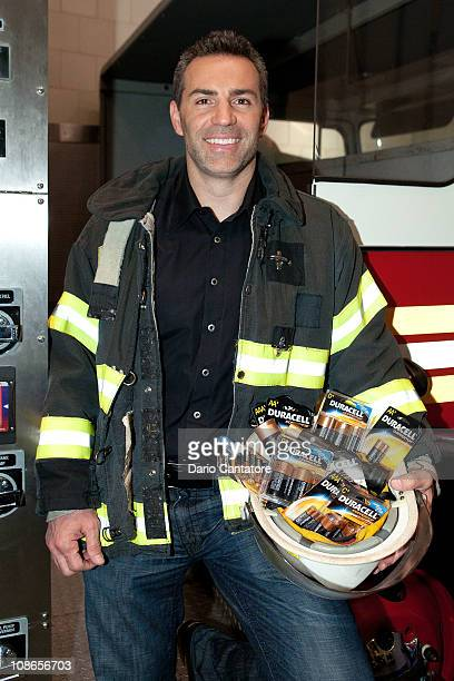 Retired American football player Kurt Warner attends Duracell's Power Those Who Protect Us campaign launch at the FDNY Fire Zone on January 31 2011...