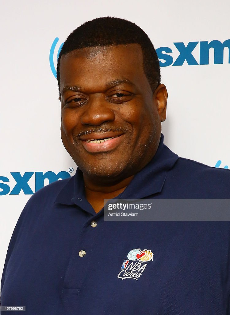 Retired American professional basketball player, <a gi-track='captionPersonalityLinkClicked' href=/galleries/search?phrase=Bernard+King&family=editorial&specificpeople=214248 ng-click='$event.stopPropagation()'>Bernard King</a> visits the SiriusXM Studios on October 28, 2014 in New York City.