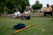 Retired and Senior citizen involved in various activities to make themselves fit after retirement on March 29 2014 in New Delhi India