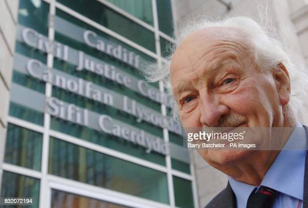 Retired army captain Edmund Carlisle outside the Civil Justice Centre in Cardiff where he will find out whether he has successfully sued Dyfed Powys...