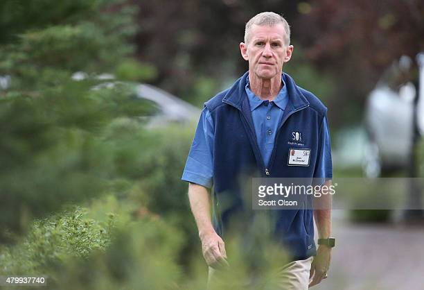 Retired Army General Stanley McChrystal attends the Allen Company Sun Valley Conference on July 8 2015 in Sun Valley Idaho Many of the worlds...