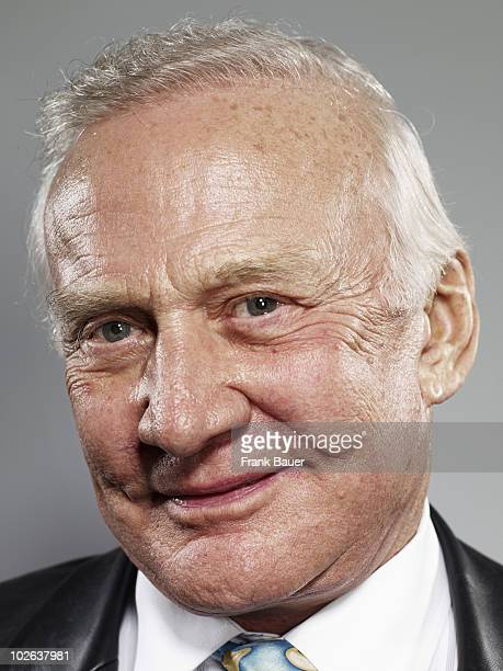 Retired astronaut Buzz Aldrin poses for a portrait shoot in Munich on January 26 2009
