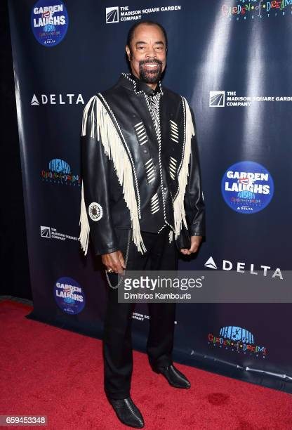 Retired Basketball Player Walt Frazier attends the 2017 Garden Of Laughs Comedy Benefit at The Theater at Madison Square Garden on March 28 2017 in...