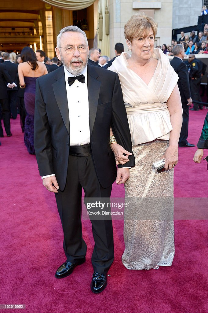 Retired CIA Tony Mendez and wife Jonna arrive at the Oscars at Hollywood & Highland Center on February 24, 2013 in Hollywood, California.