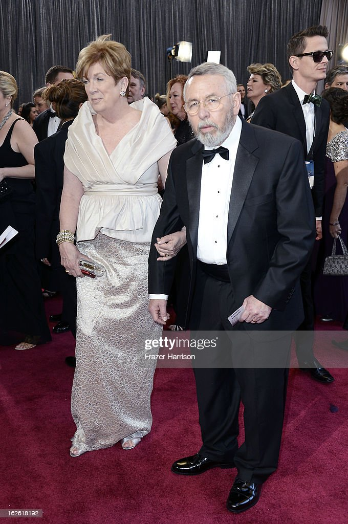 Retired CIA Tony Mendez and wife Jonna Mendez arrive at the Oscars at Hollywood & Highland Center on February 24, 2013 in Hollywood, California.
