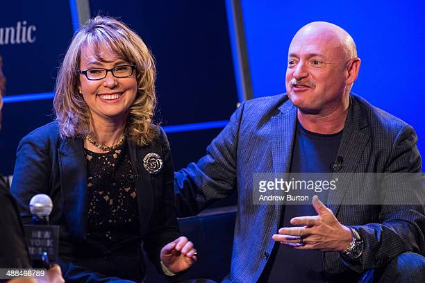 Retired Congresswoman Gabby Giffords and her husband retired astronaut Mark Kelly both cofounders of Americans for Responsible Solutions speak at New...