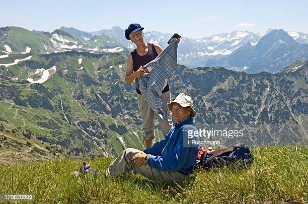 Retired Couple in the Mountains