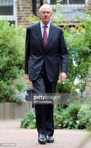 Retired Court of Appeal judge Sir Martin MooreBick who will lead the Grenfell Tower fire public inquiry leaves St Clement's Church near the Grenfell...
