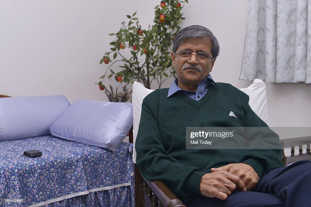 Retired Delhi High Court Justice SN Dhingra at his residence in New Delhi.