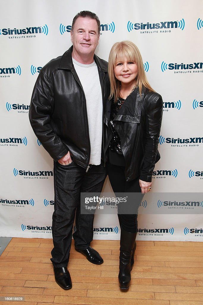 Retired detective Michael Jeffries and wife actress Pia Zadora visit SiriusXM Studios on February 6, 2013 in New York City.