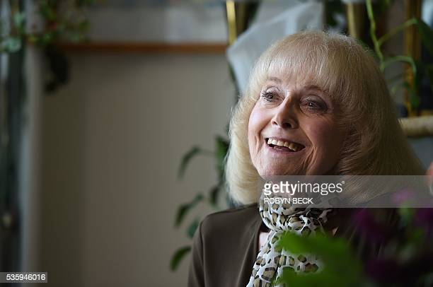 Retired film researcher Lillian Michelson is photographed in her room at the Motion Picture Television Fund Country House a retirement community for...