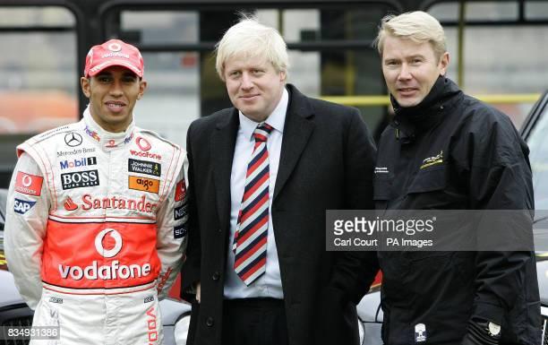 Retired Formula 1 World Champion Mika Hakkinen and current Formula 1 World Champion Lewis Hamilton join Mayor of London Boris Johnson in backing an...