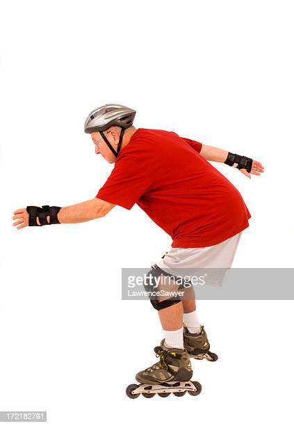 Ehemaliger Mann, inline-skating