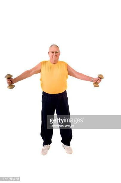 Retired guy lifts weights