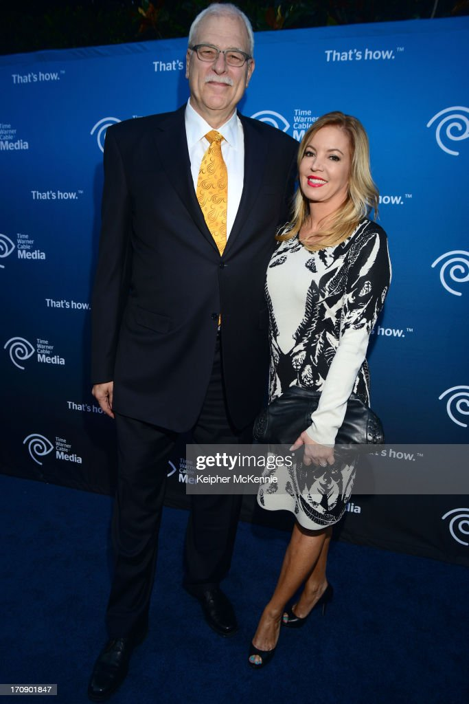 Retired head coach <a gi-track='captionPersonalityLinkClicked' href=/galleries/search?phrase=Phil+Jackson&family=editorial&specificpeople=201756 ng-click='$event.stopPropagation()'>Phil Jackson</a> and EVP Jeanie Buss attend Time Warner Cable (TWC Media) 'View From The Top' Upfront honoring LA Lakers' Dr. Jerry Buss at Vibiana on June 19, 2013 in Los Angeles, California.