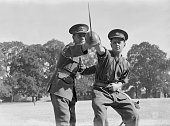Retired jockey Trooper H Woods joins a cavalry training regiment of the British Army in Maidstone Kent during World War II 1st August 1940 Woods...