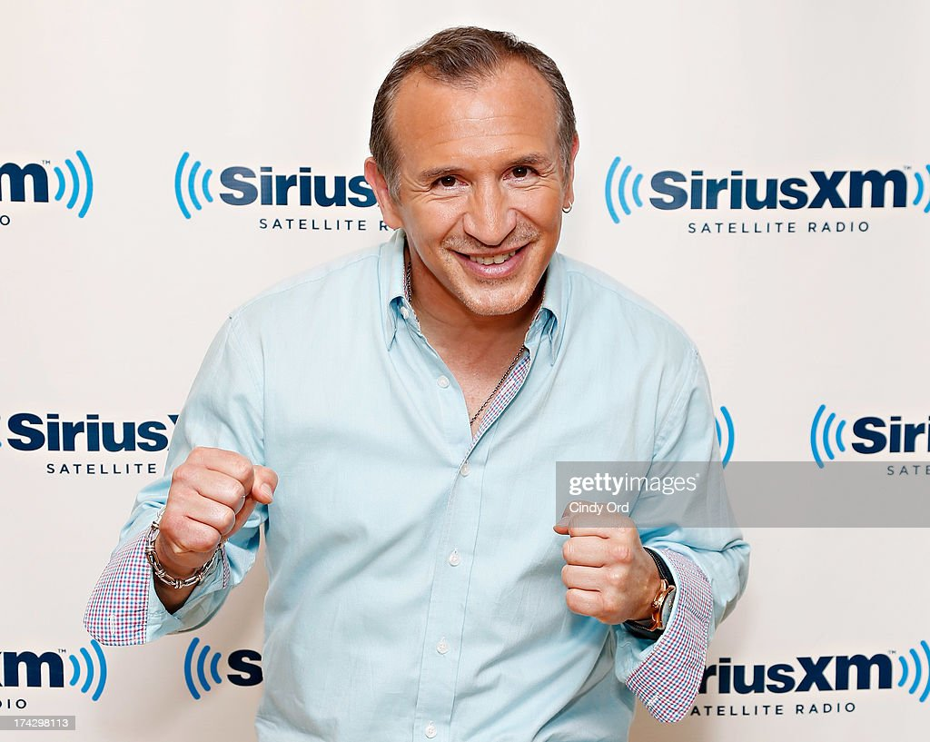 Retired lightweight champion boxer Ray 'Boom Boom' Mancini visits the SiriusXM Studios on July 23, 2013 in New York City.