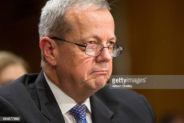 Retired Marine Corps Gen John Allen special presidential envoy for the global coalition to counter ISIL testifies during a Senate Foreign Relations...