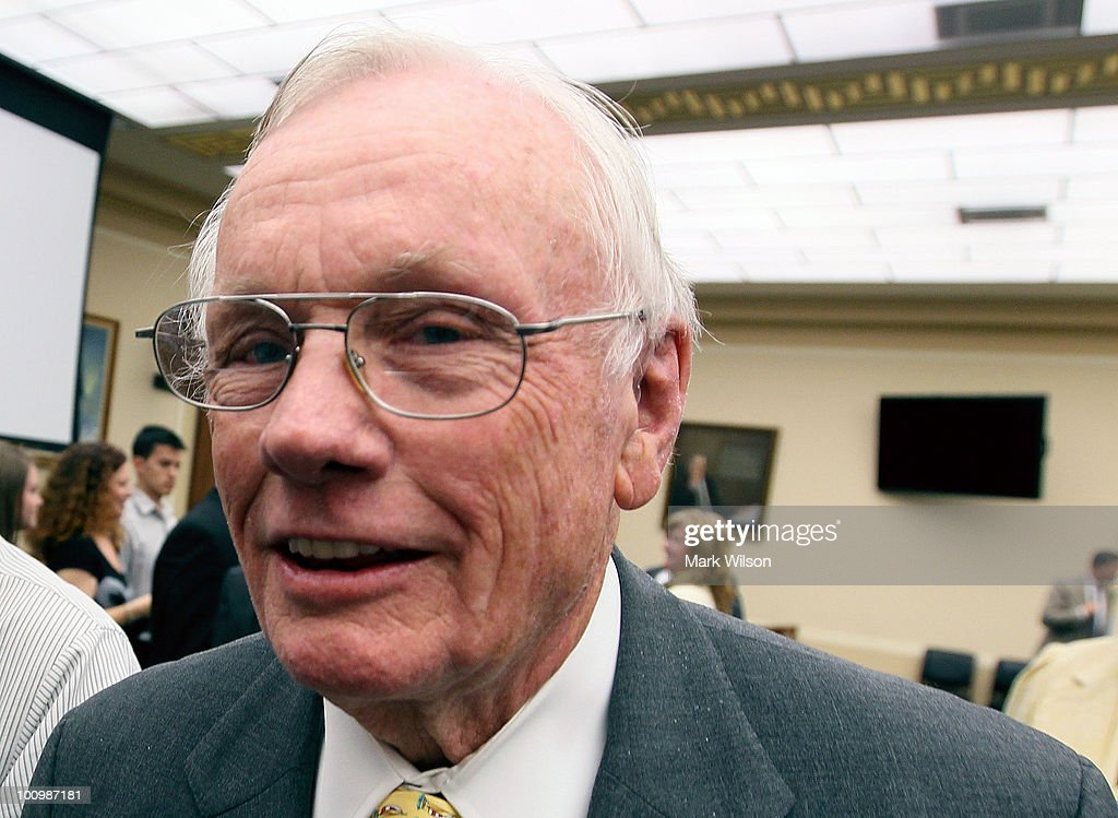 Retired NASA astronaut <a gi-track='captionPersonalityLinkClicked' href=/galleries/search?phrase=Neil+Armstrong&family=editorial&specificpeople=92197 ng-click='$event.stopPropagation()'>Neil Armstrong</a> walks away after participting in a hearing on Capitol Hill May 26, 2010 in Washington, DC. Armstong testified before the House Science and Technology Committee on the future of U.S. human space flight.
