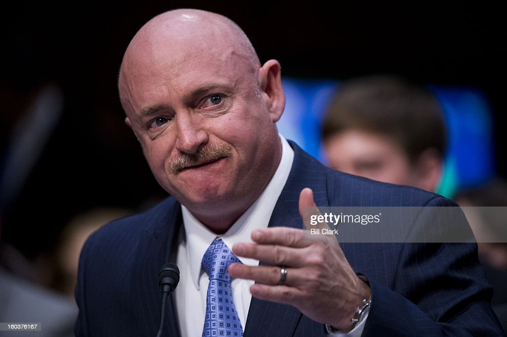 Retired Navy Capt. Mark Kelly, husband of former Rep. Gabrielle Giffords, D-Ariz., testifies during the Senate Judiciary Committee hearing on 'What Should America Do About Gun Violence?' on Wednesday, Jan. 30, 2013.