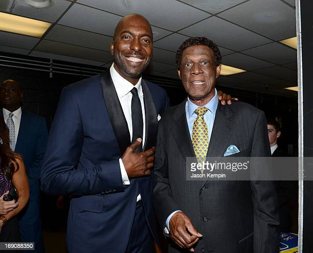 Retired NBA player and radio host John Salley and former pro basketball player Elgin Baylor attend the 28th Anniversary Sports Spectacular Gala at...